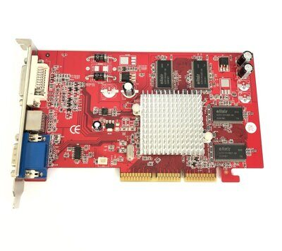 Б/У Видеокарта 128Mb < AGP > DDR (ATI RADEON 9250) 128bit D-Sub+DVI+TV Out
