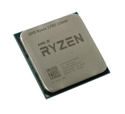 Процессор AMD AM4 Ryzen 3 3200GE (4ядра/4потока*3,3ГГц-3,8ГГц,4Мб,Vega8,35Вт) oem