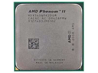 Процессор  AMD Phenom II X2 545 (HDX545W) 3.0 GHz/2core/1+6 Mb/80W/ 4000 MHz Socket AM3