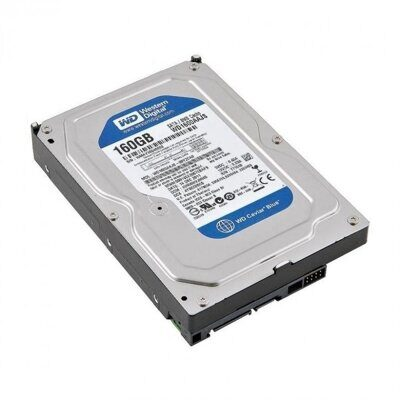 "Б/У Жесткий диск 3.5 (HDD)  160 Gb SATA-II 300 Western Digital < WD1600JS > 3.5"" 7200rpm 8Mb"
